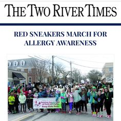‪Every parent's nightmare: your child mistakenly eats something that contains an #allergen resulting in his death. Red Sneakers March for Allergy Awareness in the @TwoRiverTimes