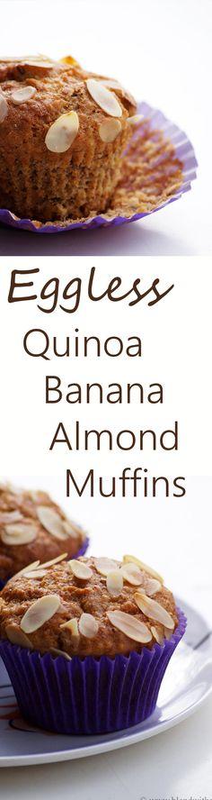Eggless Quinoa Banana Almond Muffins Recipe - How to make Quinoa Muffins