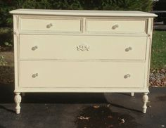 antique vintage shabby chic 4 drawer by missrobinsnest on Etsy