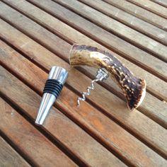 Antler Corkscrew & Wine Bottle Stopper by UniqueAlwaysLLC on Etsy, $24.99