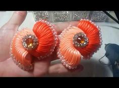 DIY Kanzashi Hair Clip for Girls : How to Make Beautiful Beaded Wedding Hair Accessories - YouTube