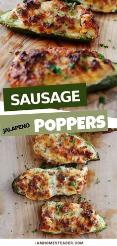 Incredibly easy to make, these Sausage Jalape�o poppers are the perfect appetizer to your parties! Filled with cream cheese and sausage mixture, these little bite-sized treats are bursting with flavor! Make this recipe today!