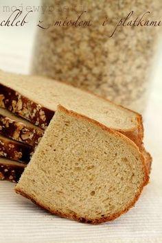 Moje Wypieki | Chleb z miodem i płatkami owsianymi