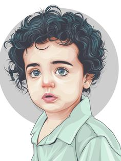 Rizky Fadillah on Behance Portrait Vector, Digital Portrait, Portrait Art, Girly Drawings, Art Drawings, Drawing Faces, Photoshop, Graphic Design Lessons, Portrait Illustration