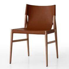 Cadeira em couro.
