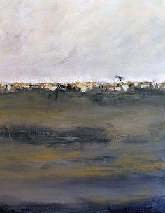 Original Abstract Landscape Cityscape by paintallnightstudios, $85.00