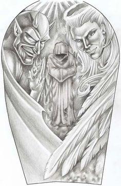 Angel and Devil by YooCysco.deviantart.com on @deviantART