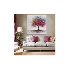 Framed Modern Abstract Hand-Painted Painting Wall Art Bedroom living... (£5.63) ❤ liked on Polyvore featuring home, home decor, wall art, white, framed wall art, white framed wall art, canvas wall art, white paintings and white panels