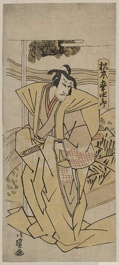 Matsumoto kōshirō (actor), 1804-08. Attributed to Hokuyō. Source: Library of Congress.