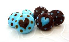 Glass buttons hearts