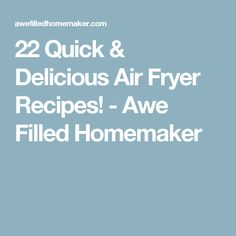 22 Quick & Delicious Air Fryer Recipes! - Awe Filled Homemaker