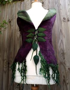 RESERVED Made to order for you Fairytale Forest Vest  von folkowl