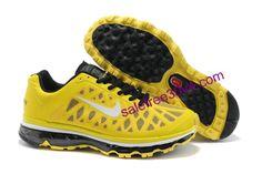 Mens Nike Air Max 2011 Sonic Yellow/White-Black Sneakers Nike Free Run 3 - Nike Air Max 2012, Cheap Nike Air Max, Nike Air Max For Women, Mens Nike Air, Nike Men, Free Running Shoes, Nike Free Shoes, Nike Shoes, Nike Running