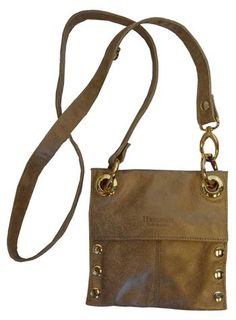 Hammitt Los Angeles Mini Montana Golden Leather With Gold Hardware Adjule Crossbody Strap