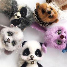Needle felting wool cute animal pets(Via @afonitoys)
