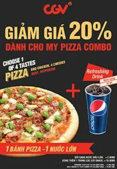 Khuyến mãi Hệ thống Rạp chiếu phim CGV giảm giá 20% cho bánh pizza khi mua vé xem phim