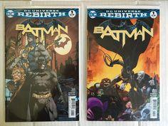 BATMAN VOL 3 #1 Cover A and Cover D VARIANT 1st PRINTING DC UNIVERSE REBIRTH