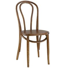 Vintage walnut solid wood dining chair.