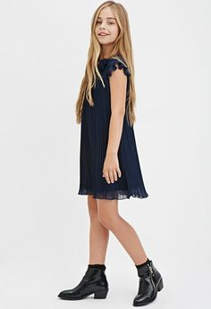 Girls Accordion Pleat Dress (Kids) | Forever 21 girls - 2000164428