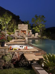 Exterior Ideas Contemporary Pool With Prefab Outdoor Living Fireplace Kits Amazing Prefab Outdoor Fireplace Ideas