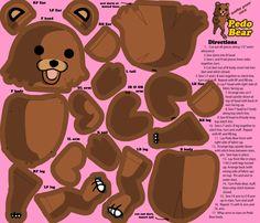 My Pedo Bear Plushie Fabric