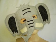 Children's ELEPHANT Felt  Safari Animal Mask by magicalattic, $12.50