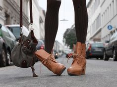 tights and boots.