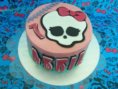 Pastel Monster High Draculaura - MJ Sweets & Parties  www.empezandoaempezar.blogspot.com