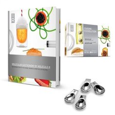 Molecular Gastronomy Kit with Book plus 4 serving spoons as a gift!