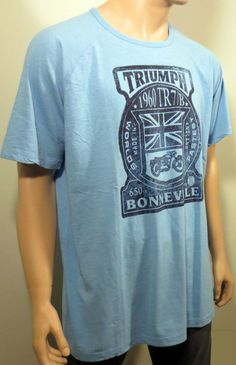 New lucky brand triumph motorcycle graphic 1960 tr7 b for Lucky brand triumph shirt