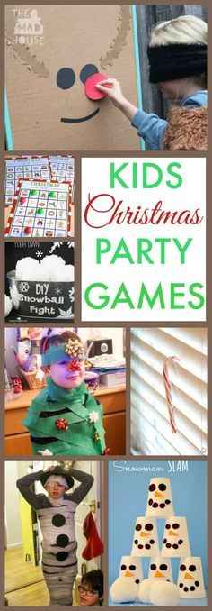 10 Fun Kids Christmas party games.  These Festive Party games are perfect for children and large groups.  They are fun, fast prep and engaging, plus they keep kids occupied for hours perfect for classrooms, cubs or brownies.  There is a Christmas Party Ga