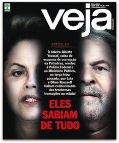 Perguntado sobre o nível de comprometimento de autoridades no esquema de corrupção na Petrobras, o doleiro foi taxativo:  — O Planalto sabia de tudo!  — Mas quem no Planalto?, perguntou o delegado.  — Lula e Dilma, respondeu o doleiro.  Conheça, nesta edição de VEJA, os detalhes do depoimento que Alberto Youssef prestou às autoridades. http://veja.abril.com.br/noticia/brasil/dilma-e-lula-sabiam-de-tudo-diz-alberto-youssef-a-pf