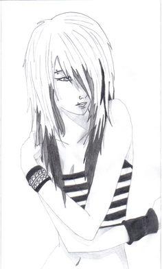 anime drawings | Emo Anime Love Drawings