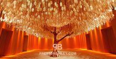 Preston Bailey Art Installation The Hotel Dharmawangsa Jakarta Indonesia Floral Crystal Tree Color Yellow Orange