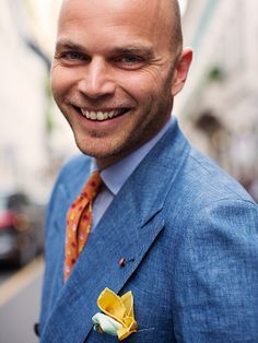 On the Street…Luca, Milan. I love the colorful pocket squares!