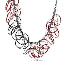 Red/Black Necklace   DONNA D'AQUINO -USA