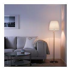 NYFORS Lámpara de pie, niquelado blanco - - - IKEA