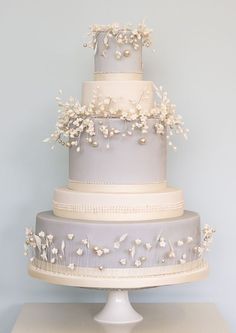 Rosalind Miller wedding cakes - the Winter Collection The Effective Pictures We Offer You About spring wedding cake ideas A quality picture can tell you many things. Elegant Wedding Cakes, Beautiful Wedding Cakes, Gorgeous Cakes, Wedding Cake Designs, Pretty Cakes, Dream Wedding, Spring Wedding, Winter Wedding Cakes, Garden Wedding