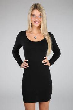 Scoopneck Long Sleeve Dress