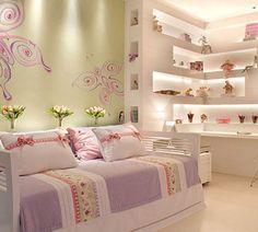 Idea repisa con luz. http://dormitorios.blogspot.com/