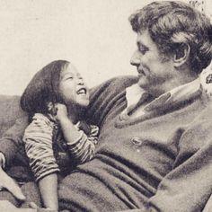 Frank Deford and daughter Scarlet
