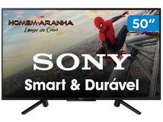 "Smart TV LED 50"" Sony KDL-50W665F Full HD - Wi-Fi HDR 2 HDMI 2 USB - Magazine Edlifes Samsung 4k, Samsung Galaxy, Tvs, Tv Led 40, Tv Android, Wi Fi, Smart Tv 4k, Smartphone Motorola, Products"