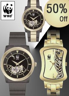 50% off on Tiger Collection Wrist Watches by WWF. Hurry, limited period offer.