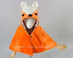 Patron de couture pdf / renard cape / renard manteau / enfants costume / costume d'Halloween / vêtements pour enfants / Enfant 2T-6ans