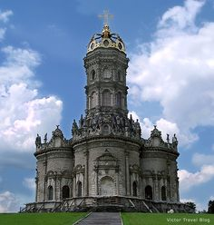 Ortodox church in Dubrovitsy, Russia, - only one in Russia baroque church, built by the iron will of the Russian Tsar Peter the Great in spite of the objections of the head of Ortodox church Patriarch Andrian.
