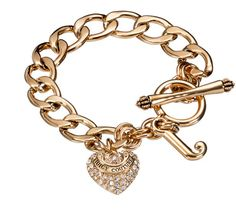 Juicy Couture Starter Pave Heart Charm Bracelet  | Best Makeup Ever