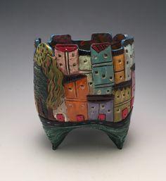 Tuscany by Lilia Venier (Ceramic Vase) | Artful Home
