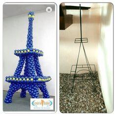 Base para globos Torre Eiffel venta $ 650.00 + gastos de envío