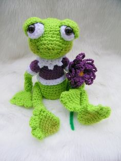 Sweet Frog, a crochet PDF pattern by TLC. $4.95, via Etsy.