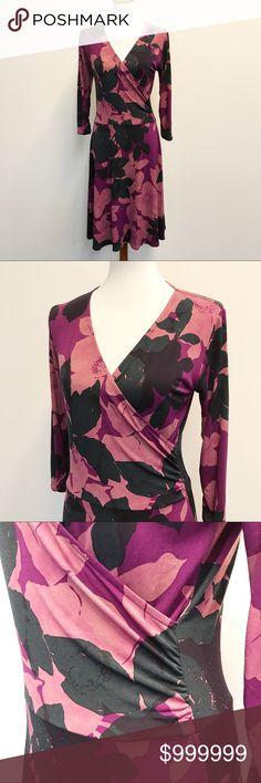 CAbi Printed Wrap Dress 🌵 CAbi Dresses Midi
